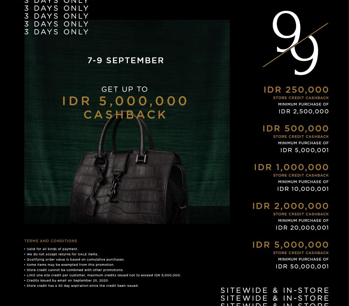 9.9 Cashback
